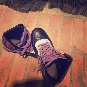 Rare Fila italia purple martial art high top shoe